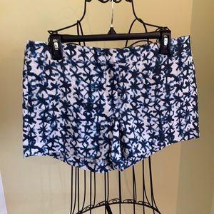 J.Crew Graphic Patterned 100% Linen Shorts Sz 8